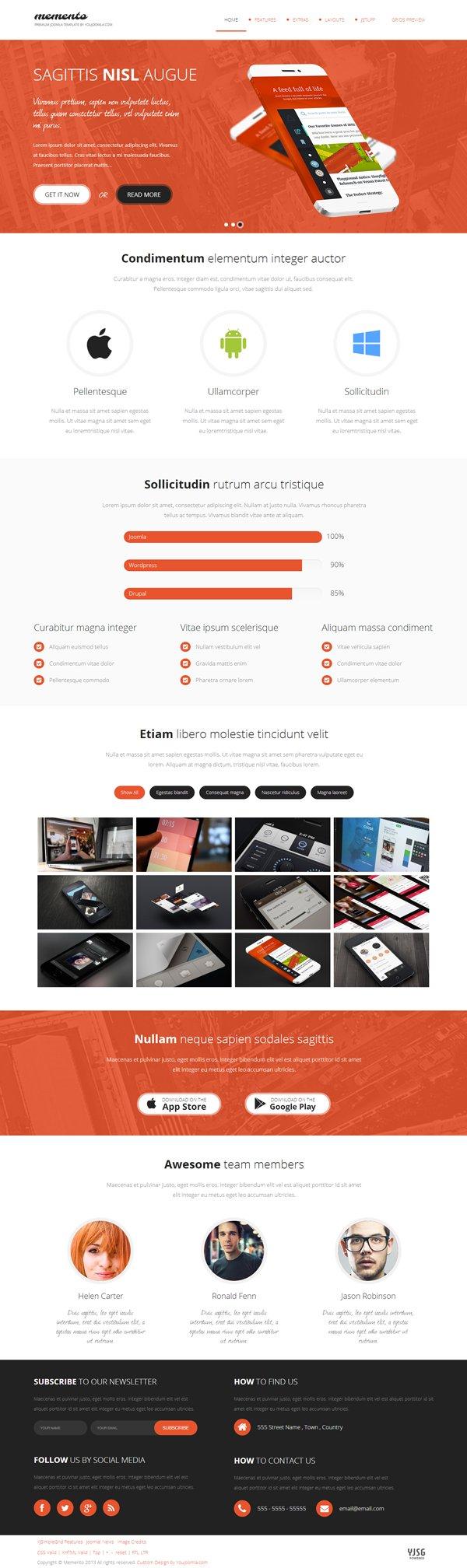 Memento – Responsive Joomla Multipurpose Template