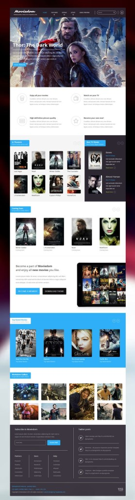 Moviedom Joomla Movie Theaters & Trailers Template