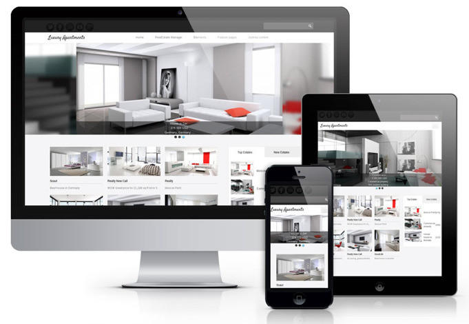 Joomla Luxury Templates os Luxury Apartments – Joomla