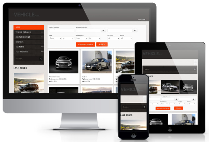 OS Vehicle Park Joomla Car Agent Template