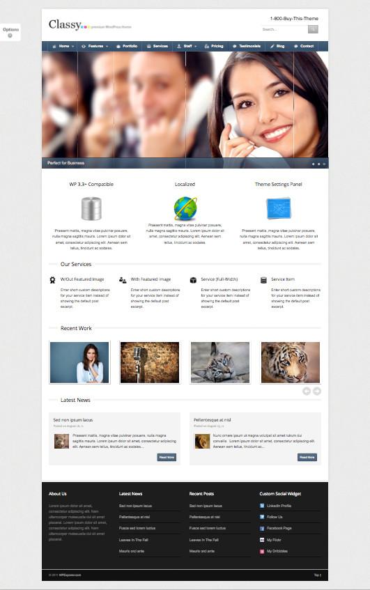 Classy Business Portfolio Theme