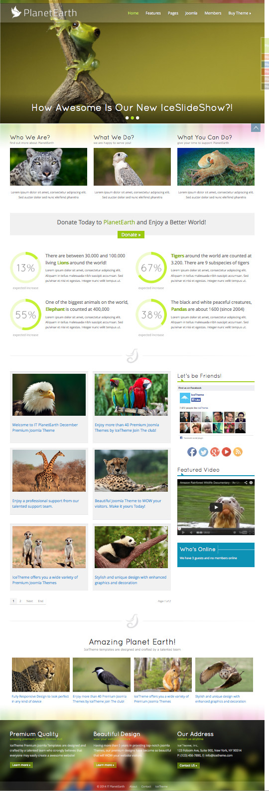IT PlanetEarth Joomla Wildlife Template