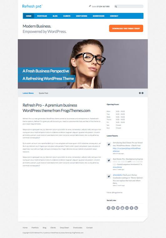 Refresh Pro WordPress Business Theme