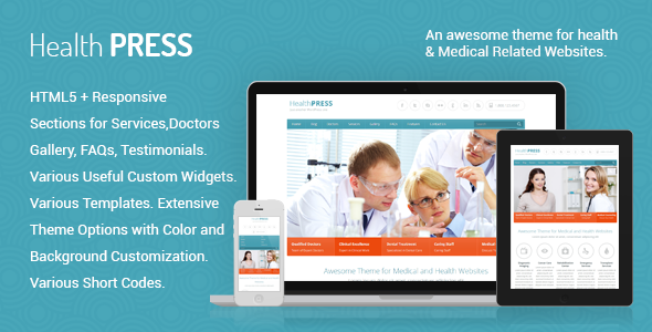HealthPress Health and Medical Theme
