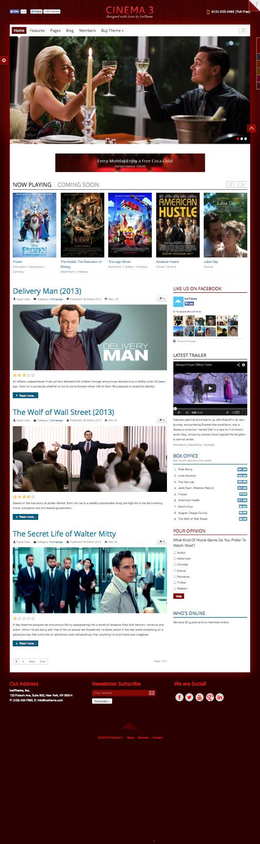 IT Cinema 3 Joomla Movie Release Template