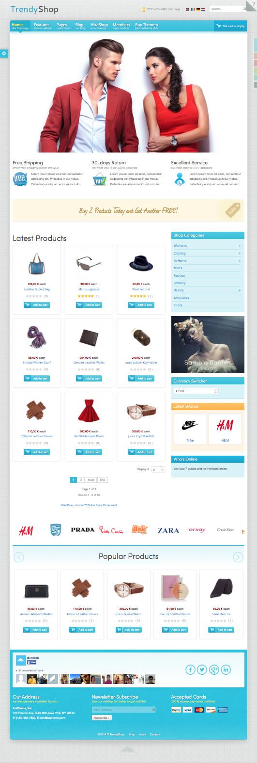 IT TrendyShop HikaShop ecommerce Template