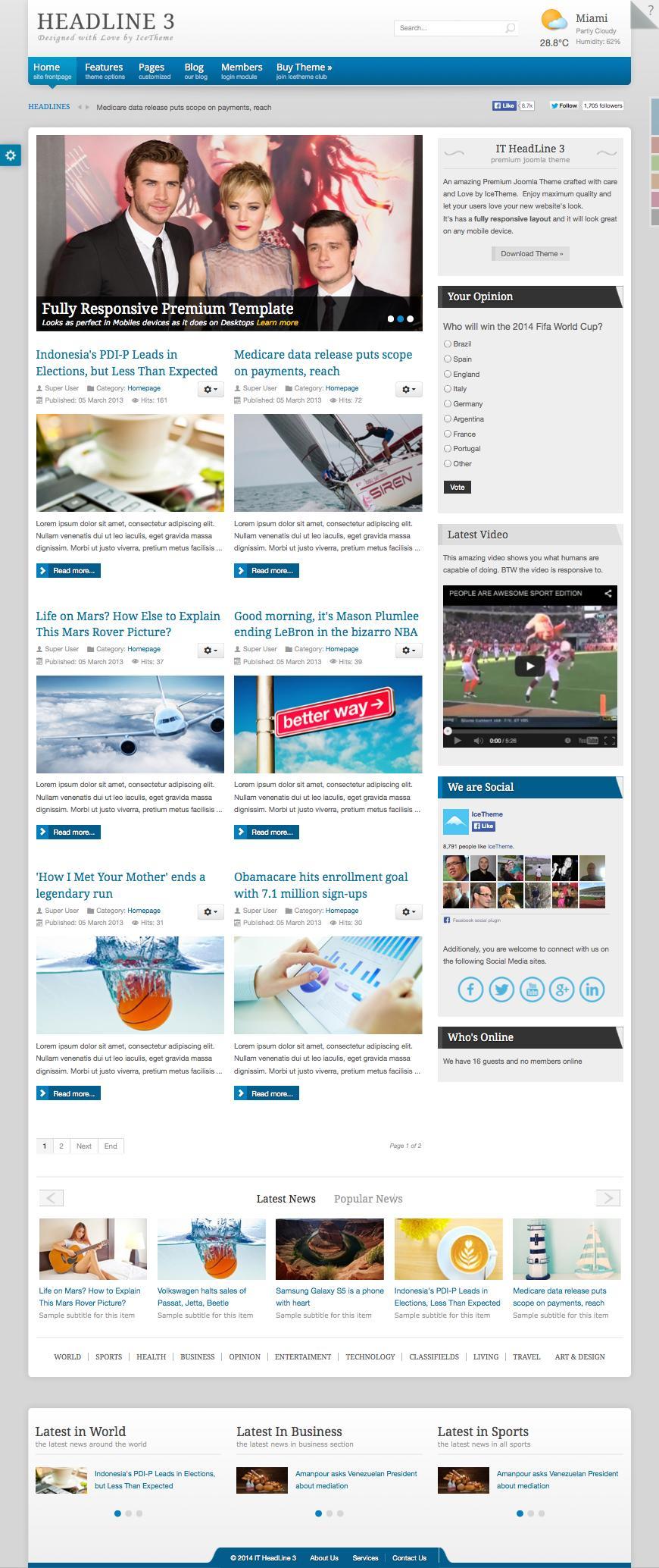 IT HeadLine 3 Joomla Magazine News Template