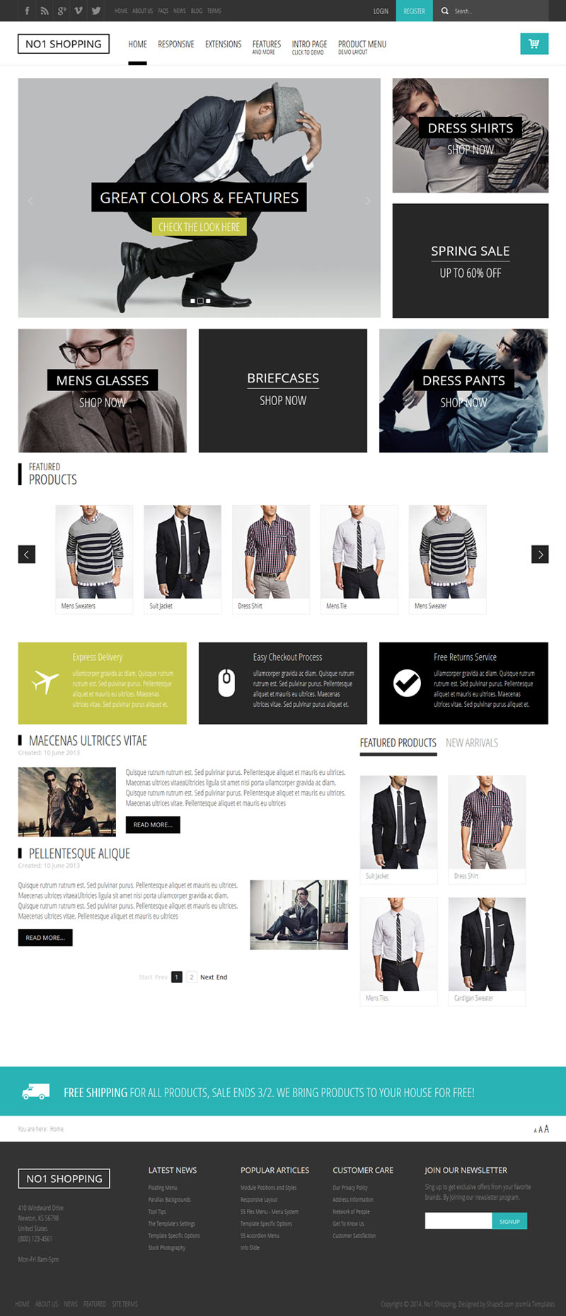 No1 Shopping Joomla eCommerce Template