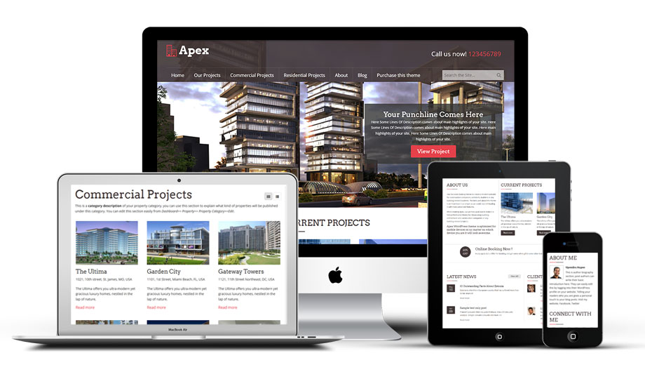 Apex Responsive WordPress Builders Theme