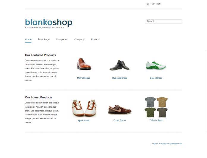 Blankoshop Joomla Minimal eCommerce Template