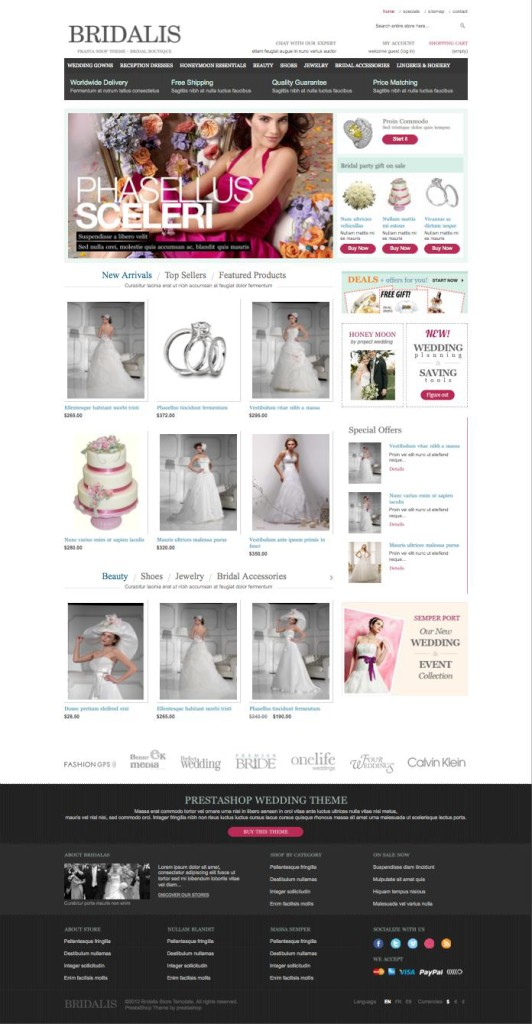 Bridalis – Bridal Products, Wedding Store PrestaShop Theme
