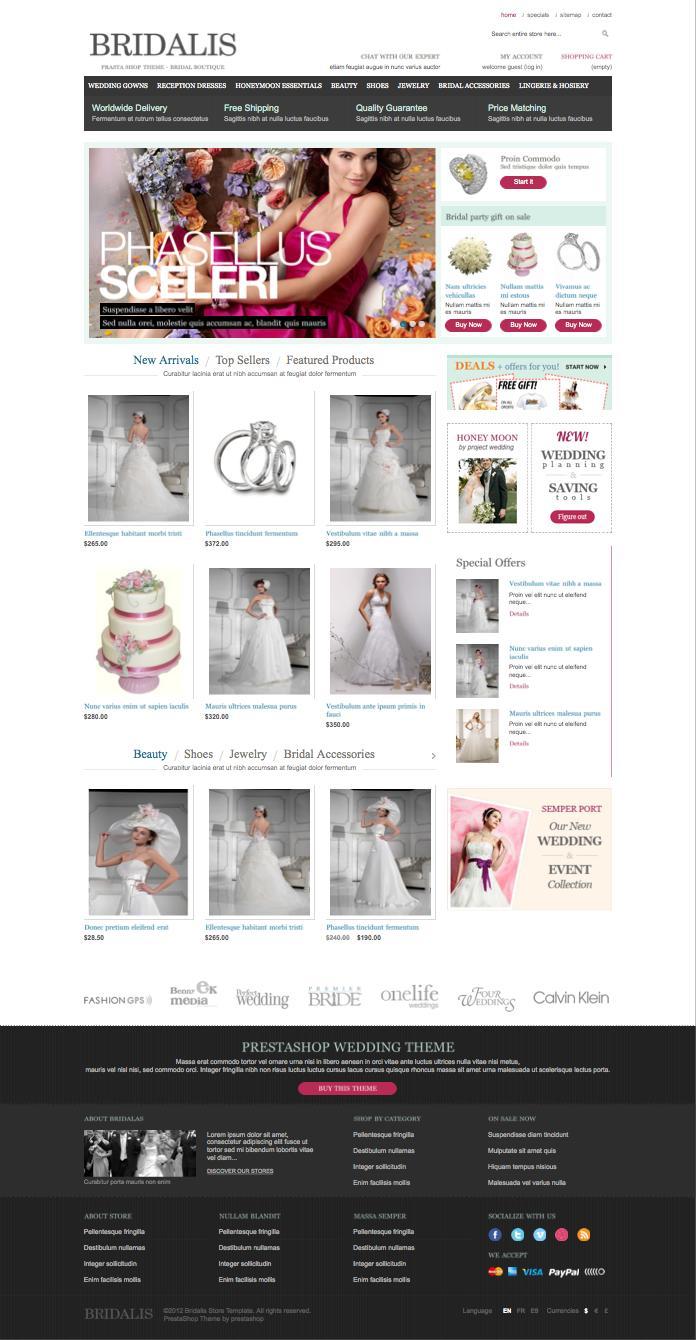 Bridalis Wedding Store PrestaShop Theme