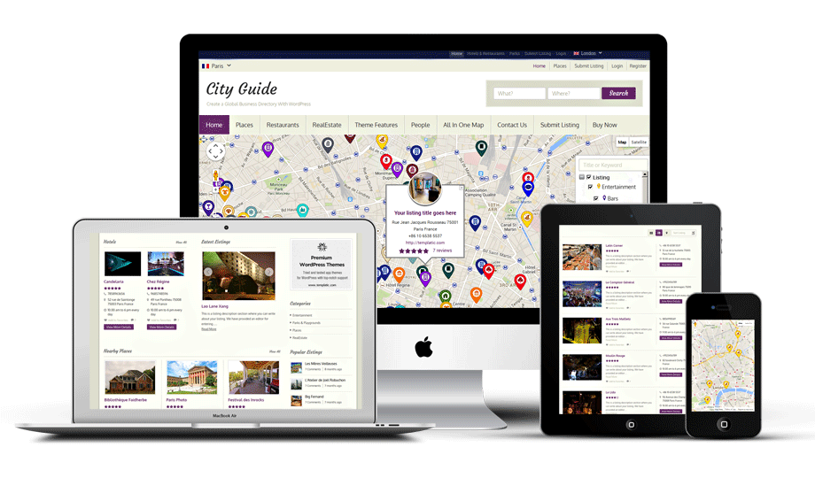 City guide wordpress local business directory theme city guide wordpress directory theme accmission Choice Image