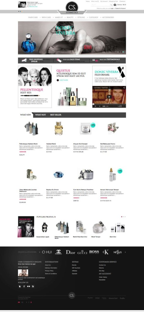 Cosmetic OpenCart Theme for Selling Beauty Products