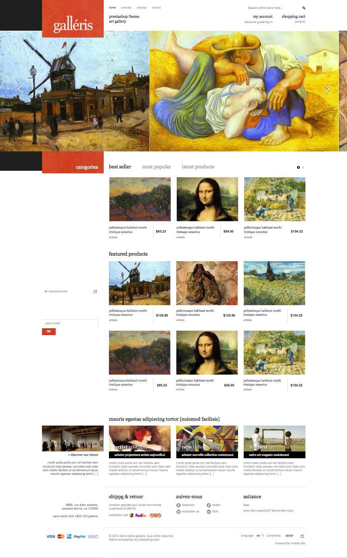 Galleris PrestaShop Art Painting Store Theme