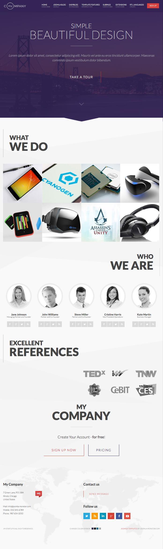 JM Startup Joomla Business Template
