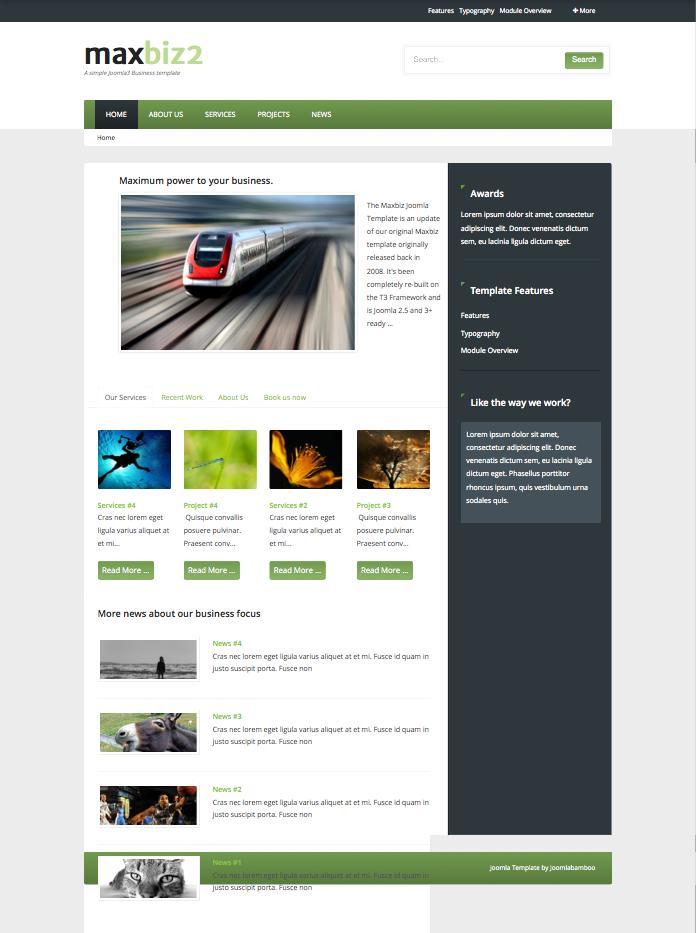 MaxBiz2 SEO Optimised Joomla Template