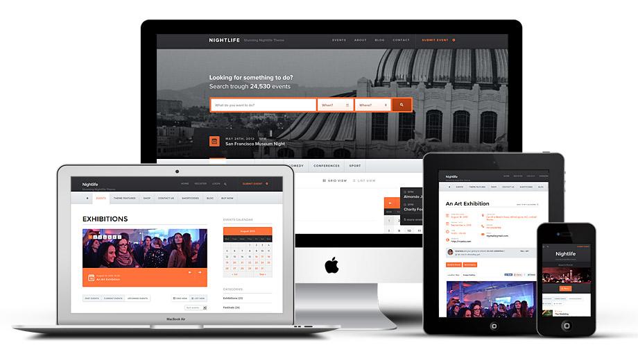 Nightlife Responsive WordPress Event Directory Theme