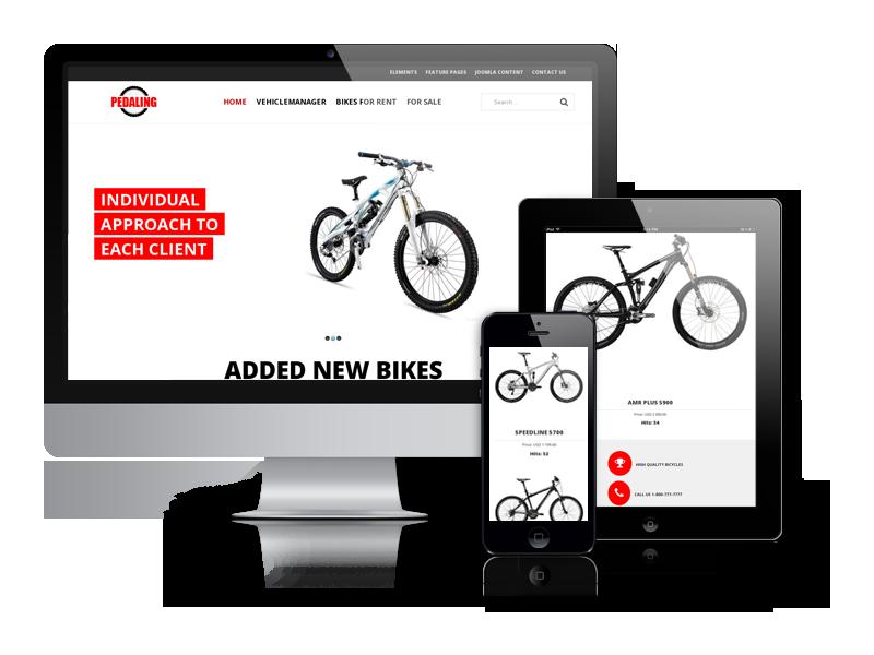 OS Pedaling Joomla Bike Rent Template
