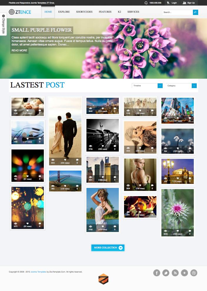 ZT Ence Joomla Grid Based Photo Template