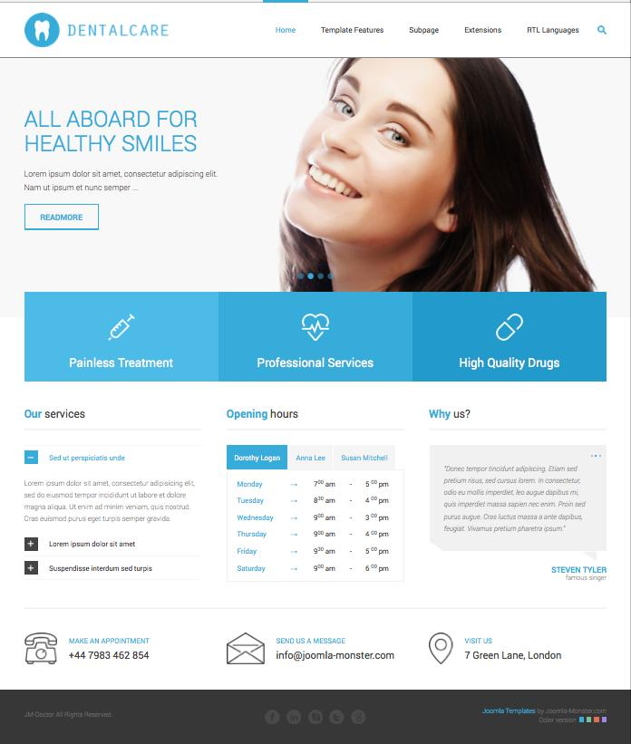 Jm Doctor Joomla Template For Medical Clinics Amp Dental Care