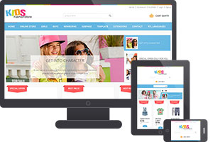 JM Kids Fashion Store Joomla Template
