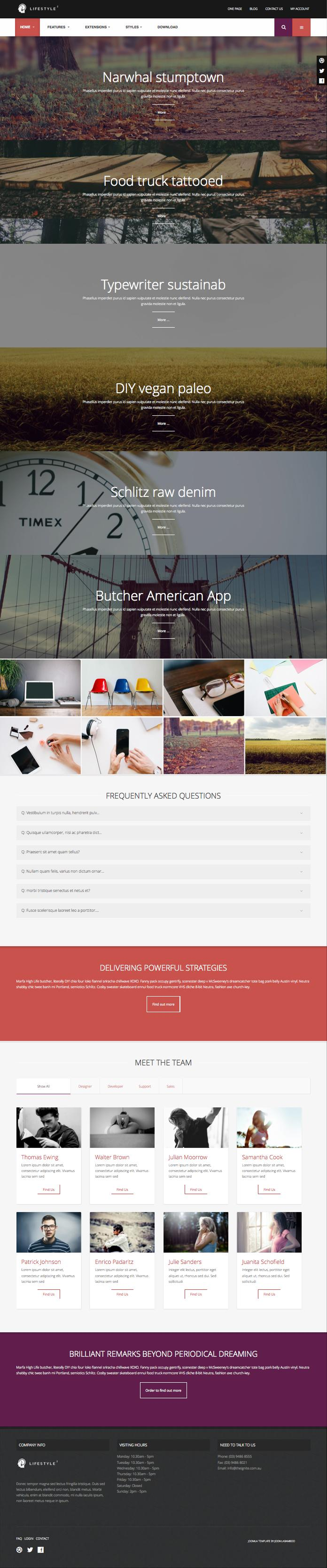 Lifestyle2 Joomla Full Width Responsive Template