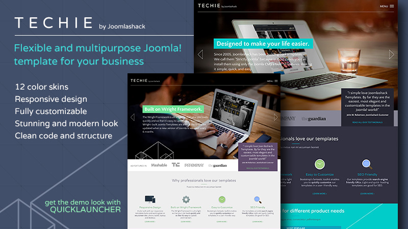 Techie Joomla Modern Look Template