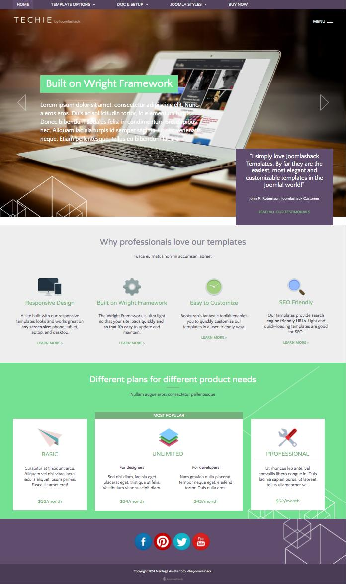 Techie Joomla Technology Business Template