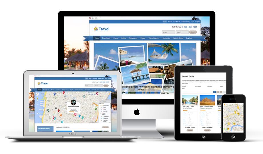 Travel directory portal WordPress theme