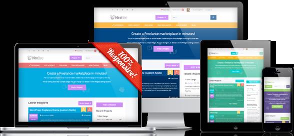 HireBee Responsive WordPress Hire Freelance Theme