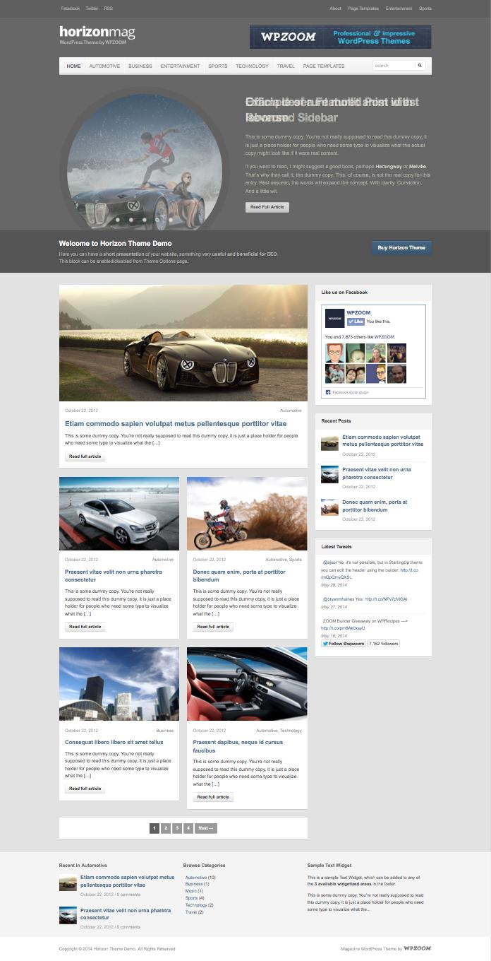 Horizon Responsive Magazine WordPress Theme