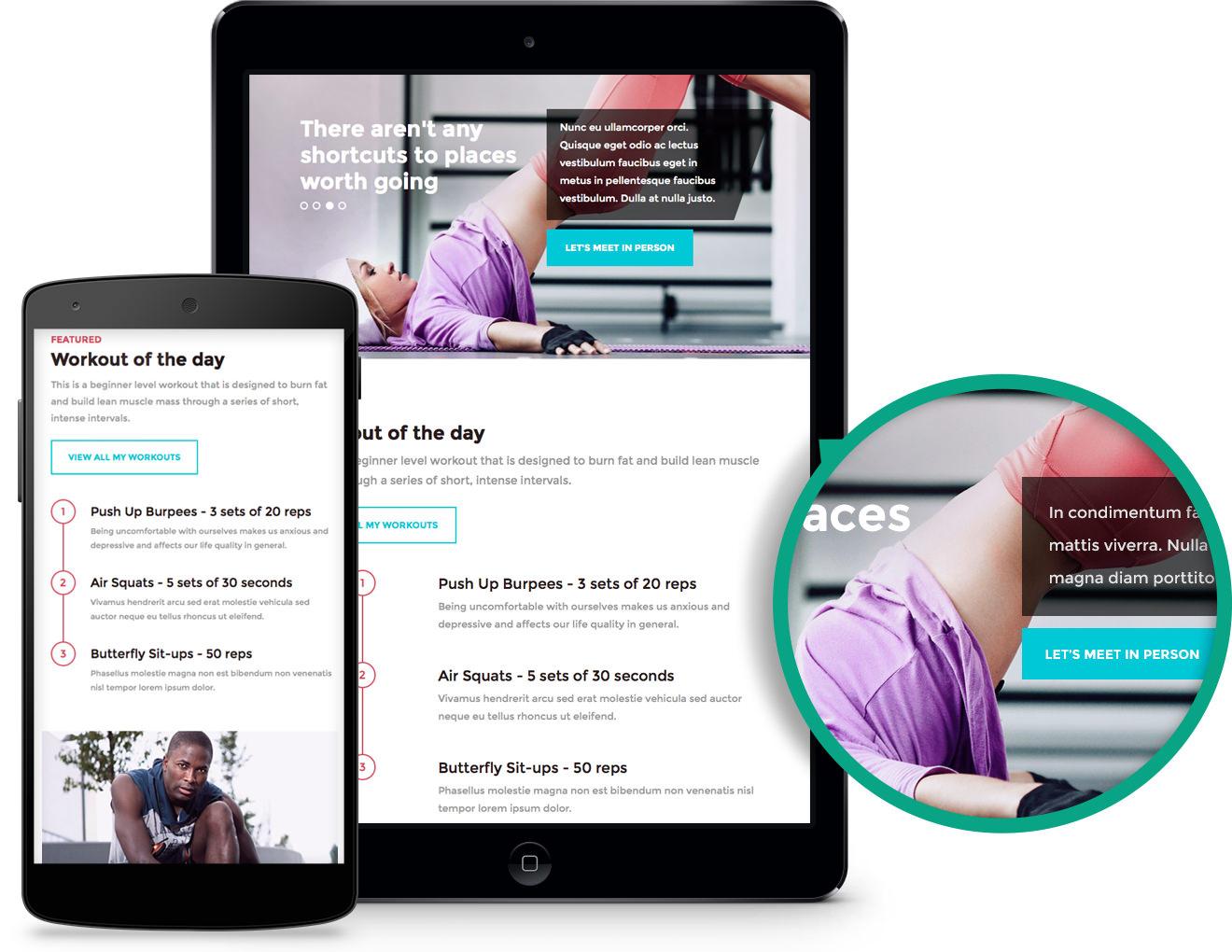 In Shape Responsive WordPress Gym Theme