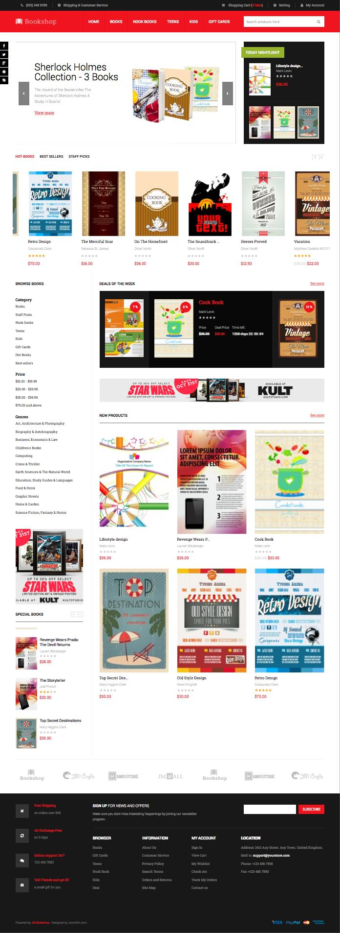JM Bookshop Magento Book Shop Theme