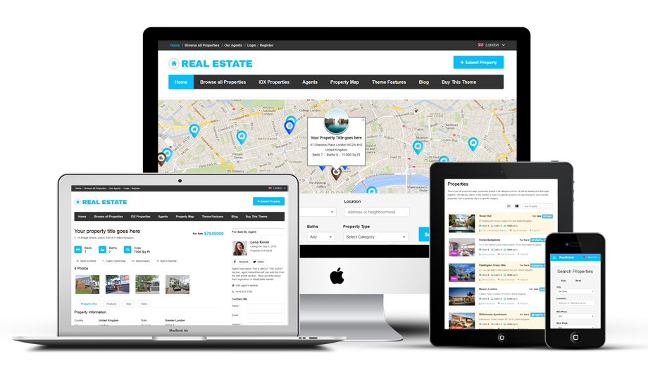 Ultimate Responsive Real Estate Directory Portal WordPress Theme