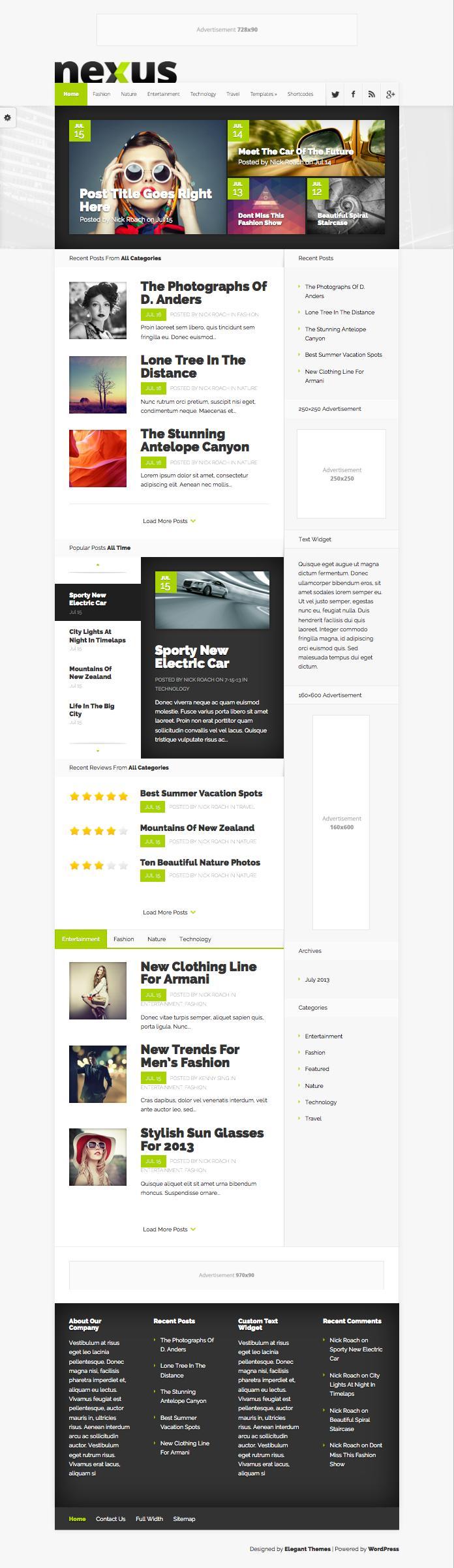 Nexus WordPress Bold Magazine Style Theme
