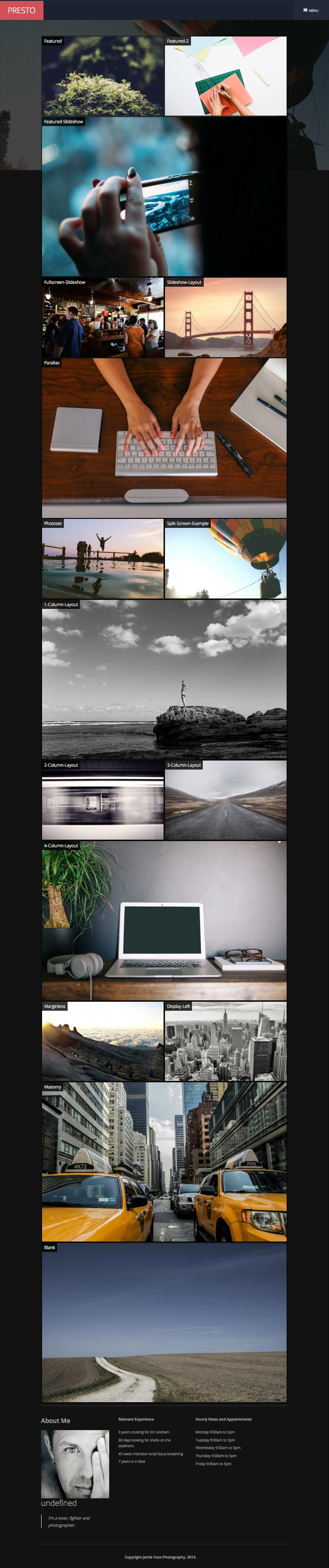 presto joomla ajax based drag drop gallery template. Black Bedroom Furniture Sets. Home Design Ideas