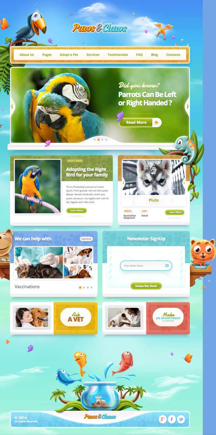 Paws & Claws WordPress Pet Clinic Theme
