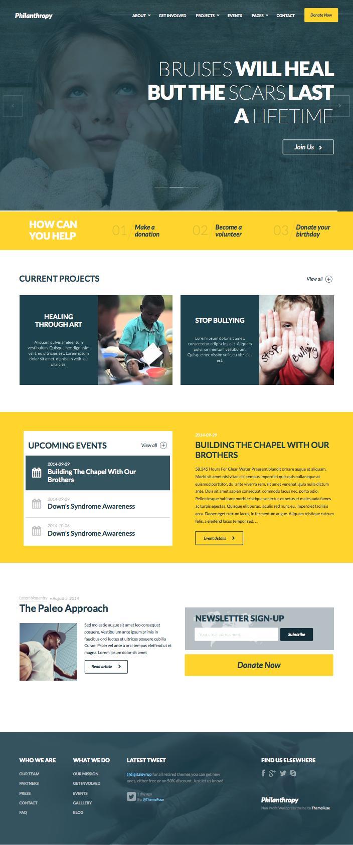 Philanthropy WordPress Charitable Organization Theme