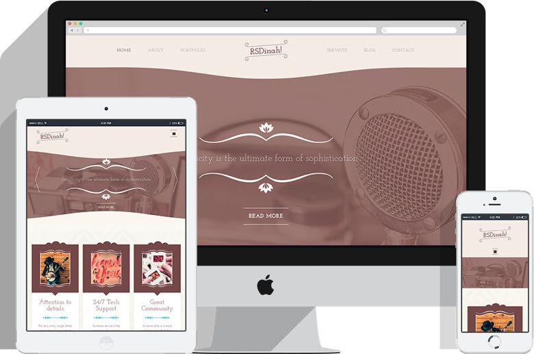 RSDinah Joomla Vintage Style Store Template