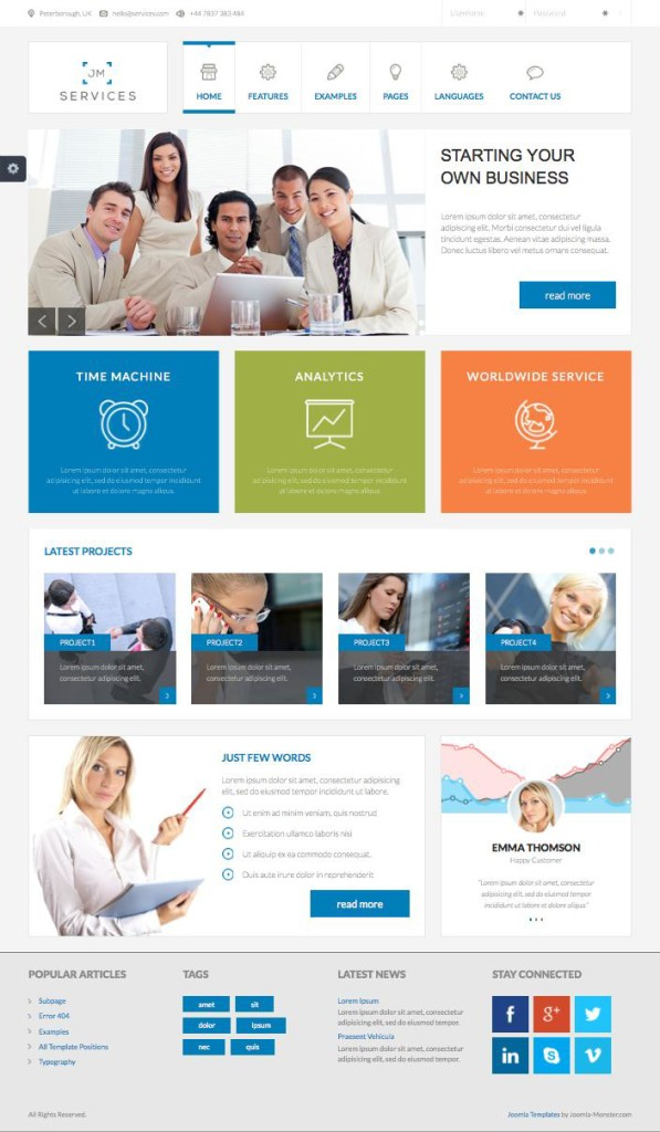 JM Services – Free Joomla Multiple Design Support Template