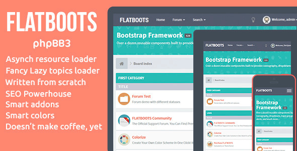 Flatboots – Responsive phpBB3 Style / Forum / Community Theme