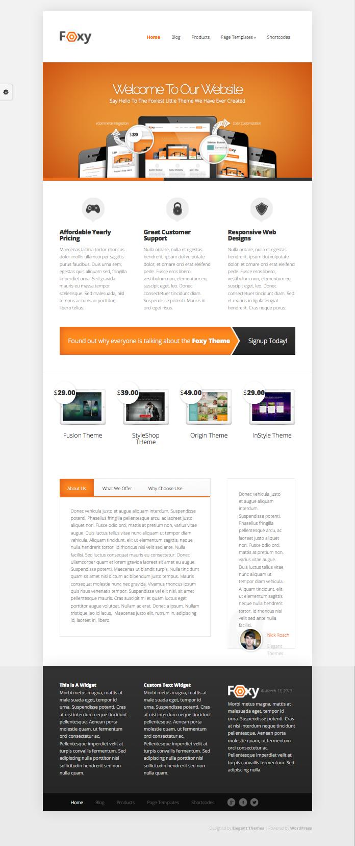 Foxy WordPress All-in-One Business Theme