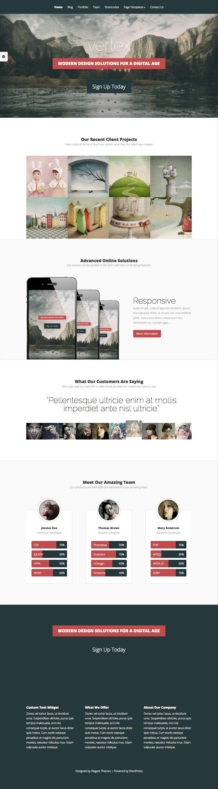 Vertex WordPress Business Provider Theme