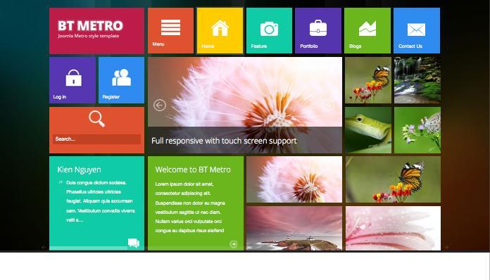 BT Metro Joomla Windows 8 Style Template