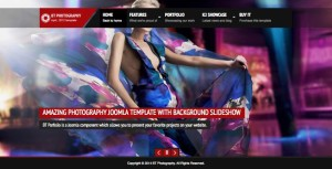 BT Photography Joomla Template + Background Slideshow & Portfolio