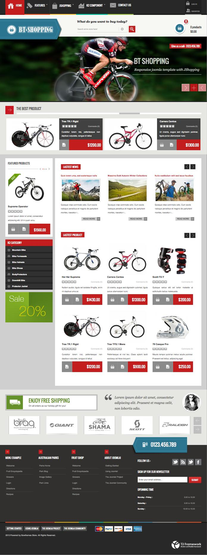 BT Shopping Joomla JoomShopping Template