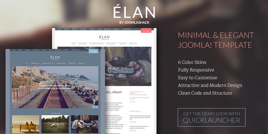 Élan Joomla Attractive & Modern Design Template