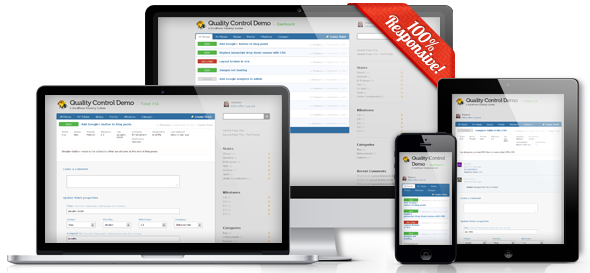 Quality Control Responsive WordPress Issue Tracking Theme