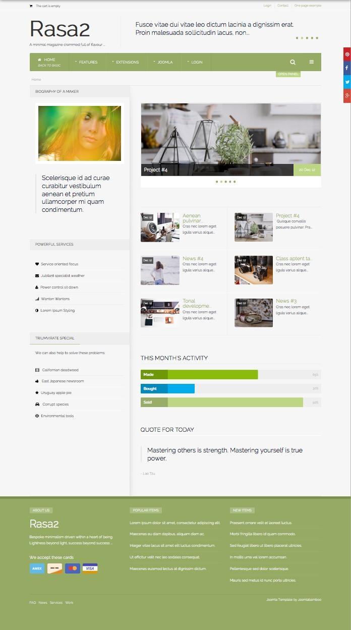 Rasa2 Joomla Cutting Edge Magazine Template